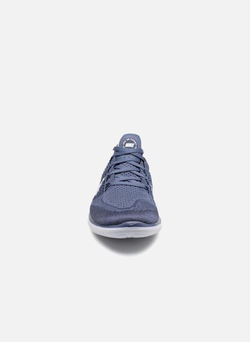 Sportschuhe Nike Nike Free Rn Flyknit 2018 blau schuhe getragen
