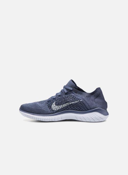 Sportschuhe Nike Nike Free Rn Flyknit 2018 blau ansicht von vorne