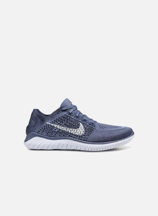 Sportskor Nike Nike Free Rn Flyknit 2018 Blå bild från baksidan