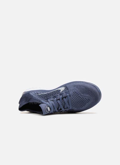 Sportschuhe Nike Nike Free Rn Flyknit 2018 blau ansicht von links