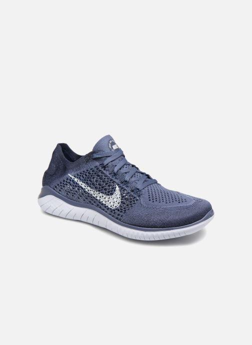 Sportschuhe Nike Nike Free Rn Flyknit 2018 blau detaillierte ansicht/modell