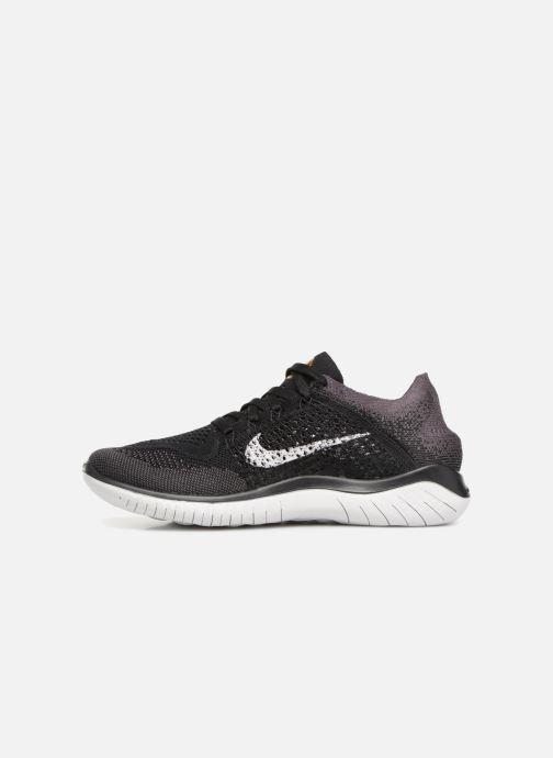 Sportschoenen Nike Wmns Nike Free Rn Flyknit 2018 Zwart voorkant