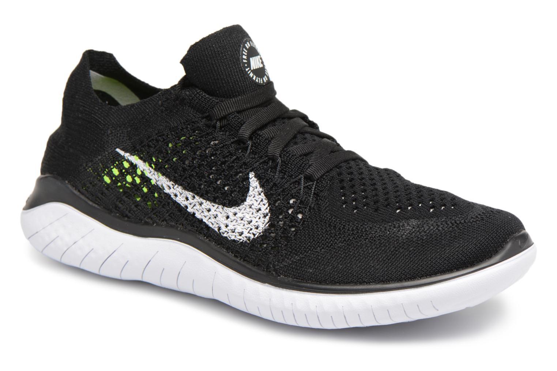 Chaussures de sport Nike Wmns Nike Free Rn Flyknit 2018 Noir vue détail/paire