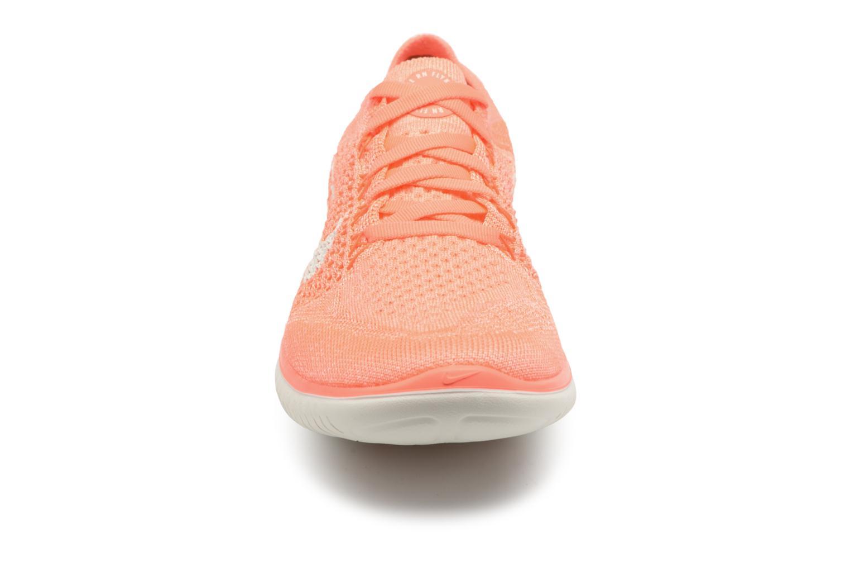 Chaussures de sport Nike Wmns Nike Free Rn Flyknit 2018 Orange vue portées chaussures