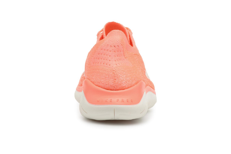 Chaussures de sport Nike Wmns Nike Free Rn Flyknit 2018 Orange vue droite
