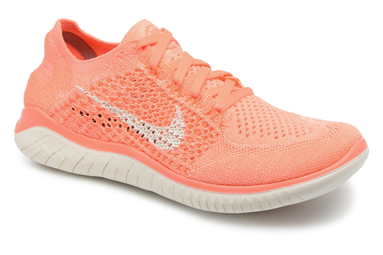 Chaussures de sport Nike Wmns Nike Free Rn Flyknit 2018 Orange vue détail/paire