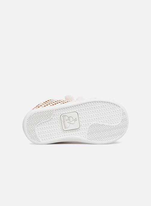 Baskets Le Coq Sportif Courtset Woven Inf Blanc vue haut