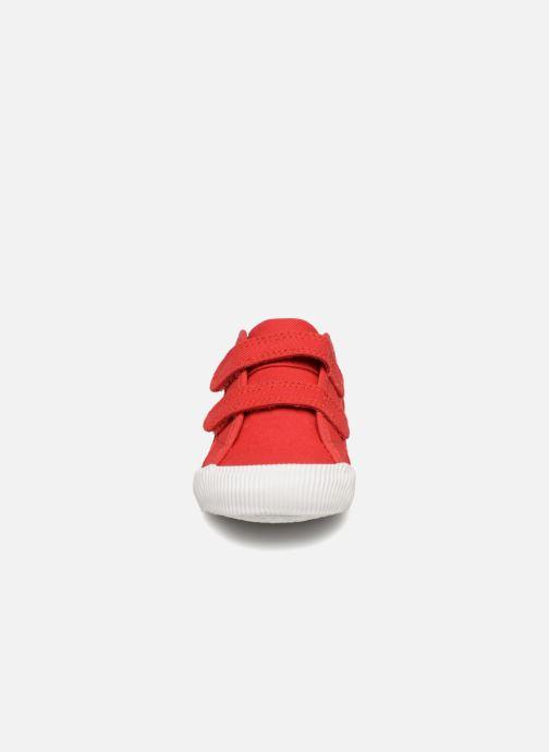 Baskets Le Coq Sportif Deauville Inf Sport Rouge vue portées chaussures