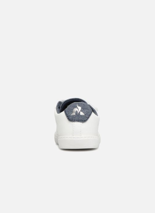 Sneakers Le Coq Sportif Courtset Inf Craft Wit rechts