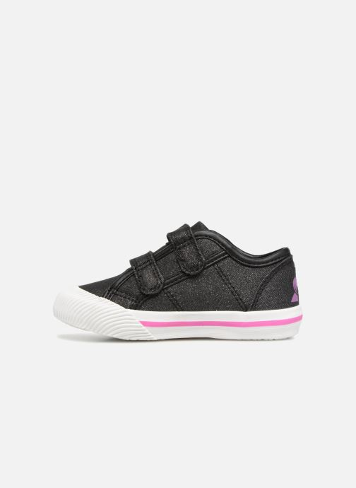 Sneakers Le Coq Sportif Deauville Inf Princess Zwart voorkant