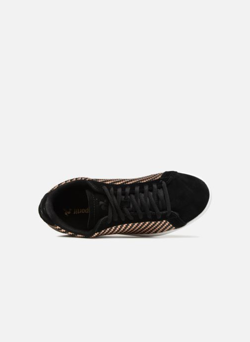 Trainers Le Coq Sportif Courtset W Woven Black view from the left