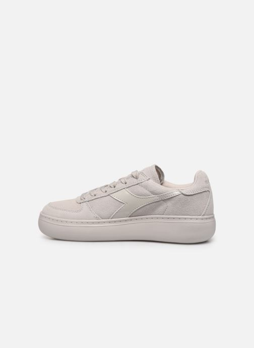 Baskets Diadora Elite Wide Nub Beige vue face