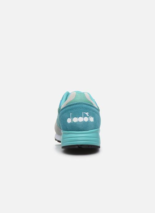 Deportivas Diadora N902 Speckled Azul vista lateral derecha