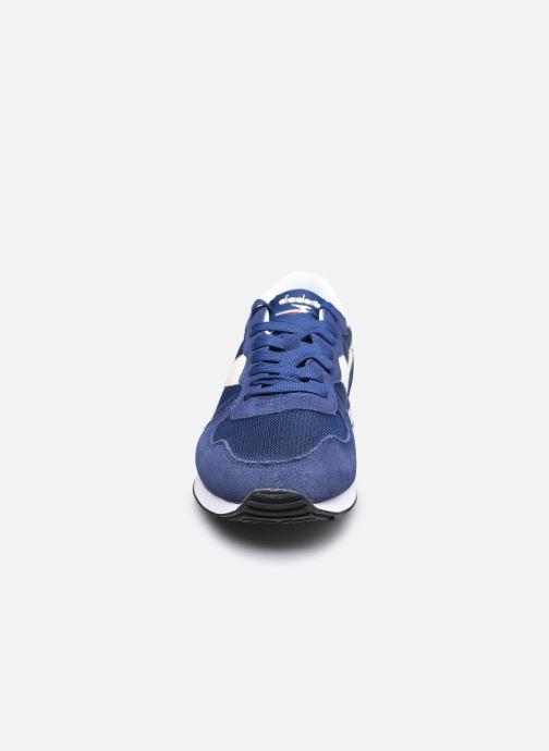 Baskets Diadora Camaro Bleu vue portées chaussures