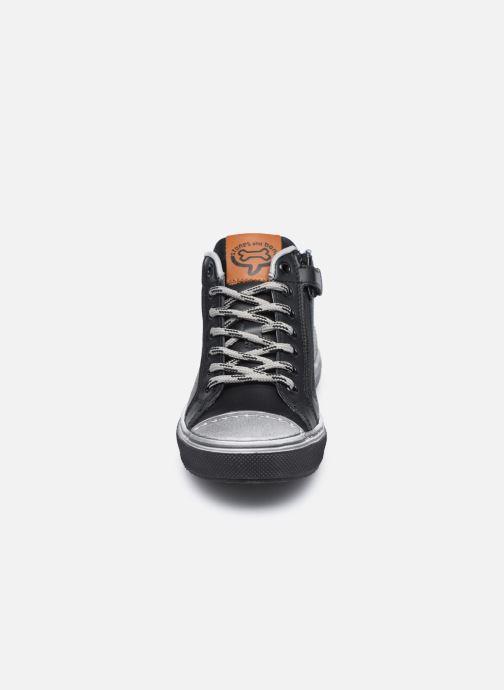 Baskets Stones and Bones Robbi Noir vue portées chaussures