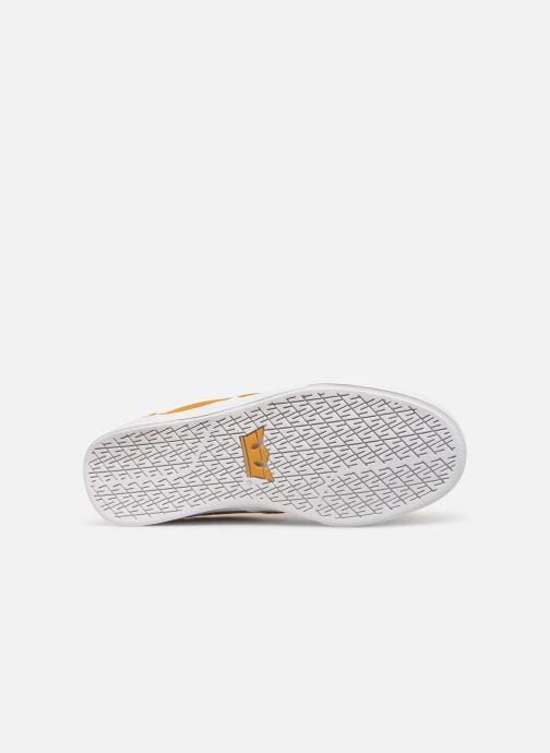 Baskets Supra CHINO Jaune vue haut