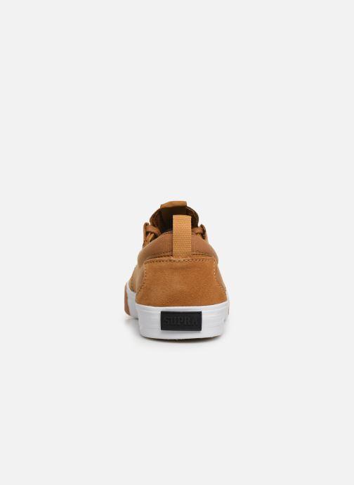 Sneaker Supra FLOW beige ansicht von rechts
