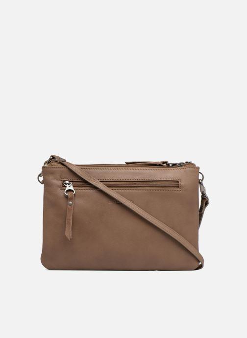 Clutch bags Sabrina Aurélia Brown front view