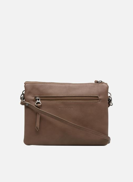 Clutch bags Sabrina Capucine Brown front view