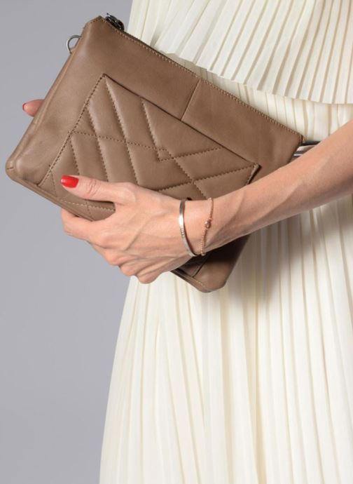 Clutch bags Sabrina Capucine Brown view from above