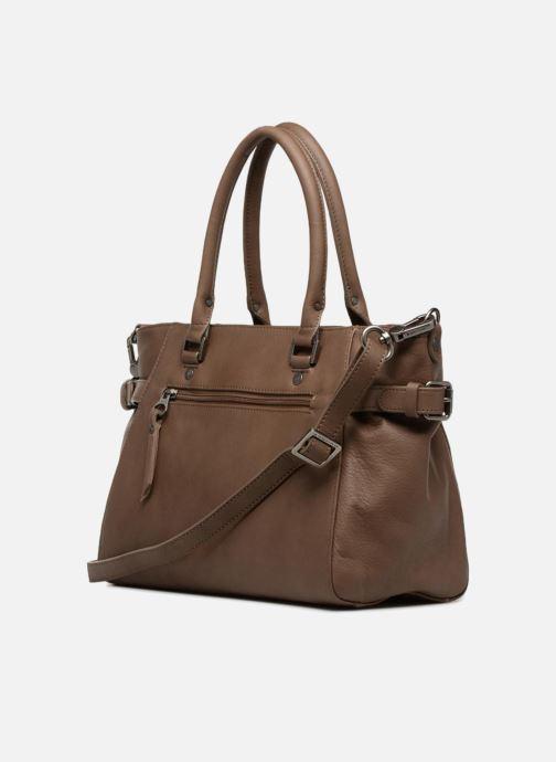 Handtaschen Sabrina Cécile braun ansicht von rechts