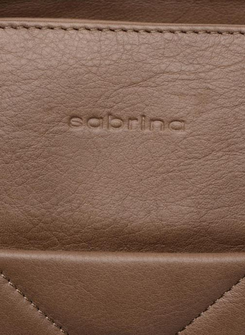 Handbags Sabrina Cécile Brown view from the left