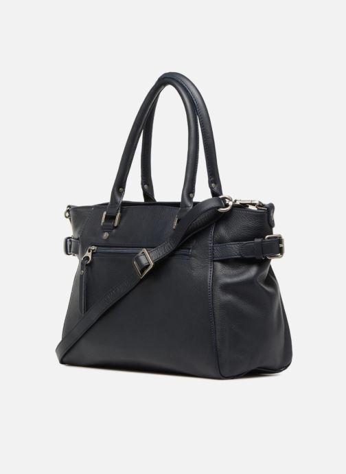 Handtaschen Sabrina Cécile blau ansicht von rechts