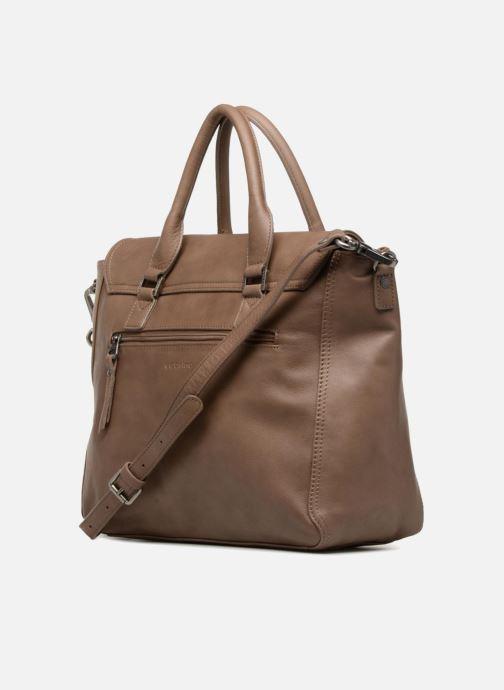 Handtaschen Sabrina Charlotte M braun ansicht von rechts