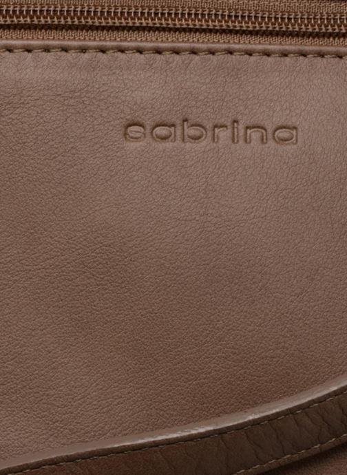 Handtaschen Sabrina Charlotte M braun ansicht von links