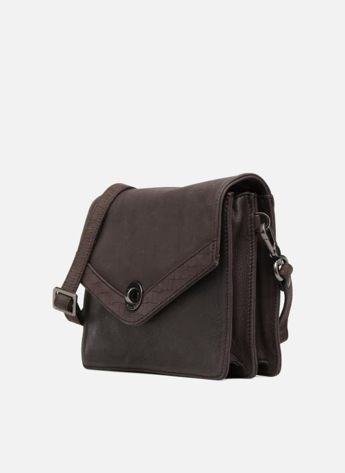 Clutch bags Sabrina Faustine croco Grey model view