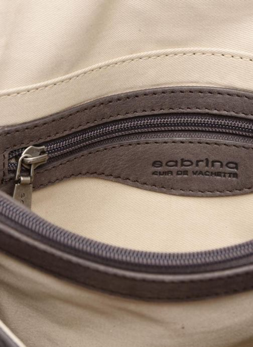 Clutch bags Sabrina Faustine croco Grey back view