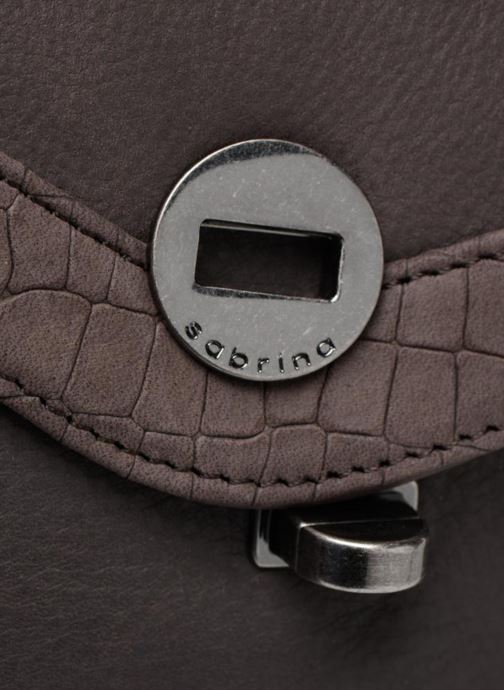 Mini Bags Sabrina Faustine croco grau ansicht von links
