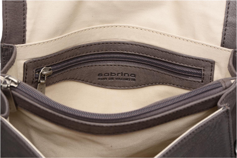 Sacs pochettes Sabrina Faustine croco Gris vue derrière