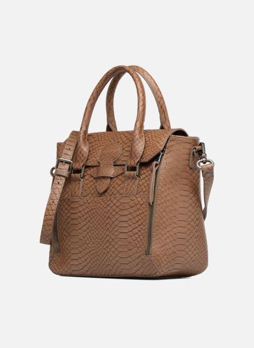 Handtaschen Sabrina Ilona croco braun schuhe getragen