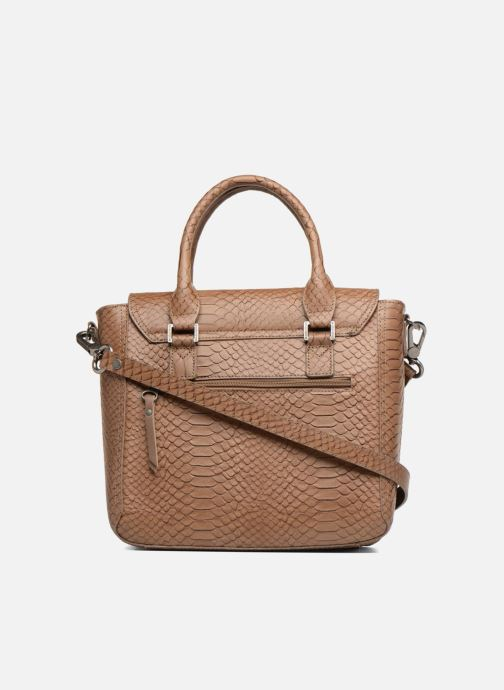 Handtaschen Sabrina Ilona croco braun ansicht von vorne