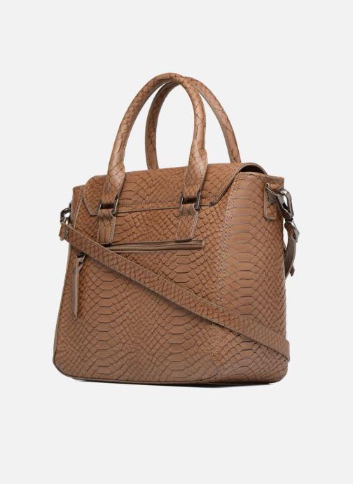 Handtaschen Sabrina Ilona croco braun ansicht von rechts