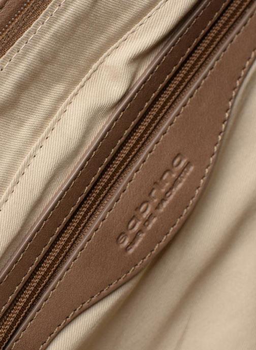 Handtaschen Sabrina Ilona croco braun ansicht von hinten