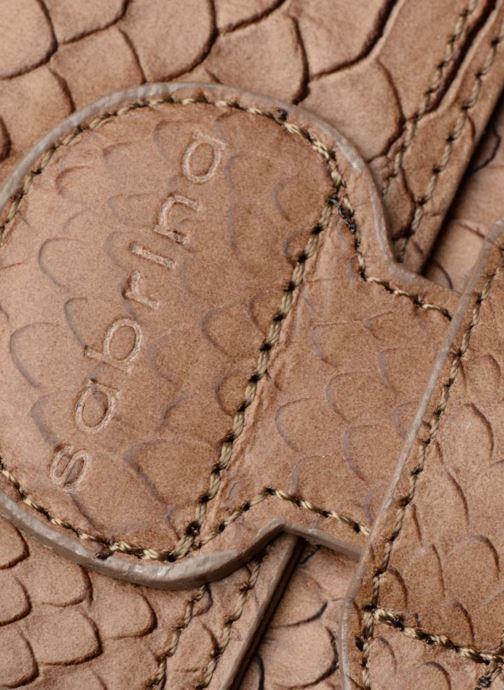 Handtaschen Sabrina Ilona croco braun ansicht von links