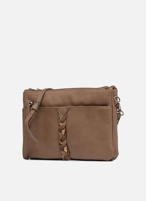 Clutch bags Sabrina Mélodie Brown model view