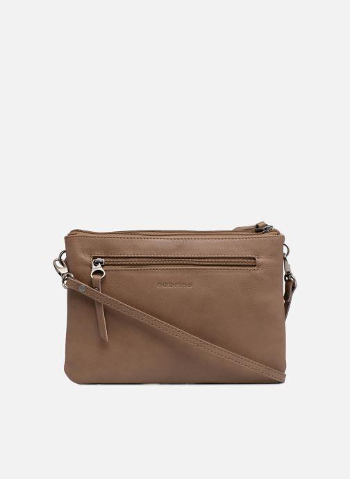 Clutch bags Sabrina Mélodie Brown front view