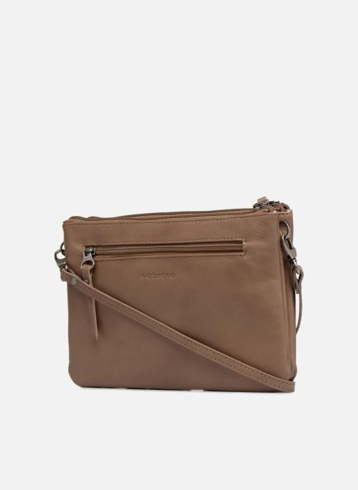 Clutch bags Sabrina Mélodie Brown view from the right