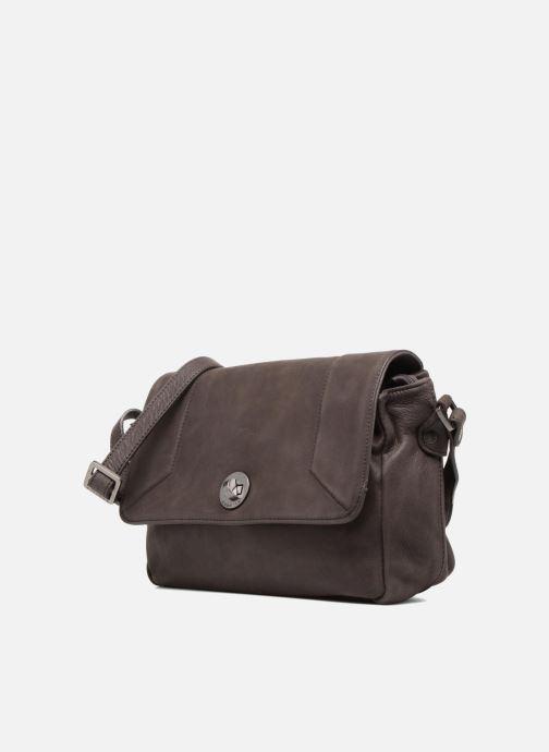 Handtaschen Sabrina Valérie grau schuhe getragen