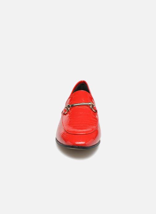 Mocassins Dune London Guilt Rouge vue portées chaussures
