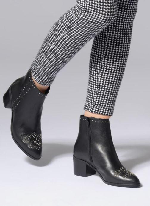 Bottines et boots Dune London Queenies Noir vue bas / vue portée sac