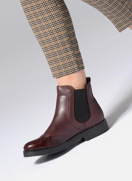 Bottines et boots Dune London Quark Bordeaux vue bas / vue portée sac