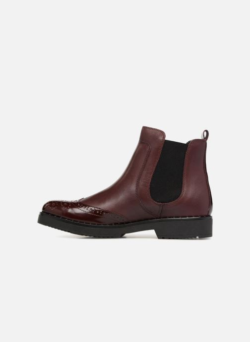 Bottines et boots Dune London Quark Bordeaux vue face