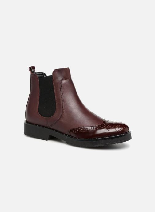 Bottines et boots Dune London Quark Bordeaux vue détail/paire