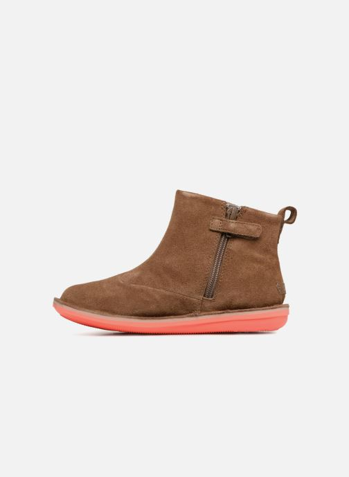 Ankle boots Camper TWS stars Brown front view