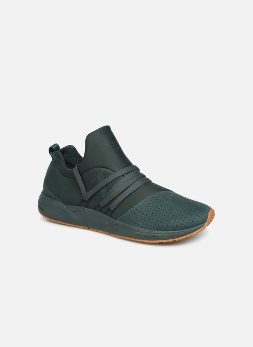 Trainers ARKK COPENHAGEN Raven Nubuck S-E15 Green detailed view/ Pair view