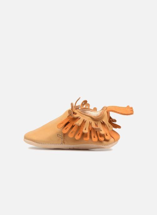 Pantofole Easy Peasy Frangette Marrone immagine frontale